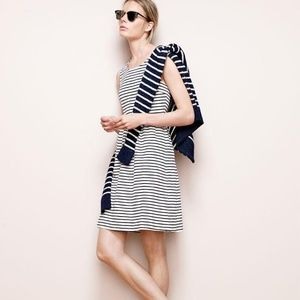 J. CREW Stripe Back-Zip Dress Nautical {AA13}